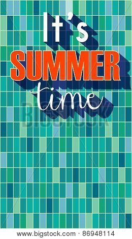 It s summer time poster