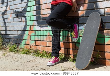 Girl With A Skateboard