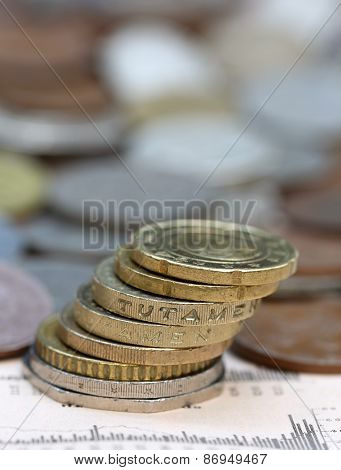 Coins On Business Page