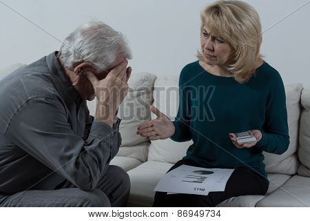 Senior Couple Having Financial Troubles