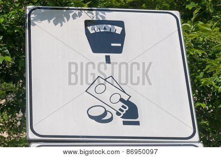 Parking Payment Sign