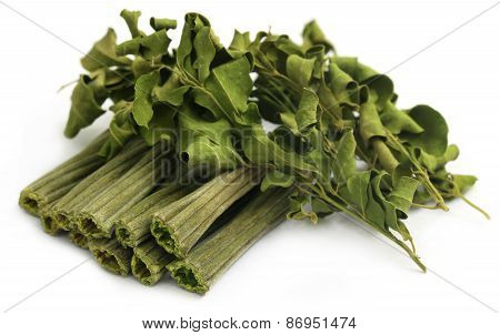 Dried Moringa With Leaves