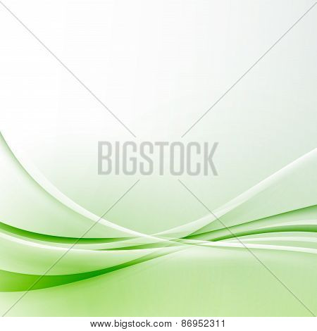 Green Wave Border Abstract Modern Certificate Background