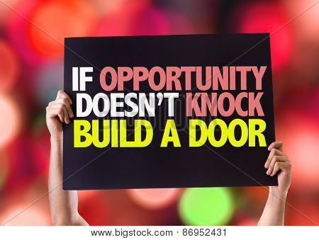 If Opportunity Doesn't Knock Build a Door card with bokeh background