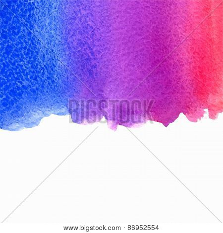 vector watercolor pink, violet and blue gradient background with copy space