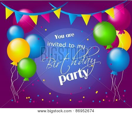 Invitation To Birthday Party