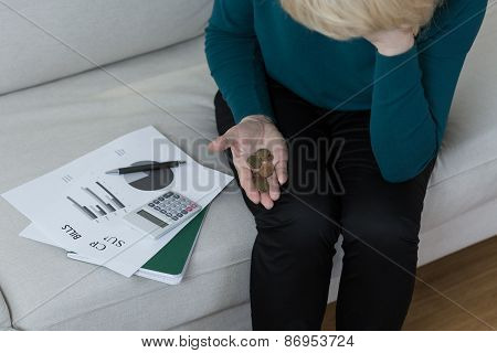 Woman Being In Debt