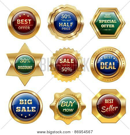 Golden Sale Labels