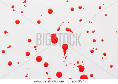 Abstract red watercolor on white paper background