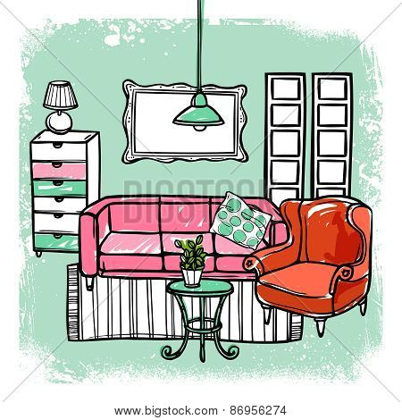 Furniture Sketch Illustration