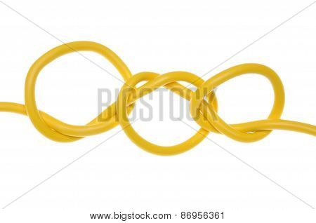 Electric colored wires with knot used in electrical network