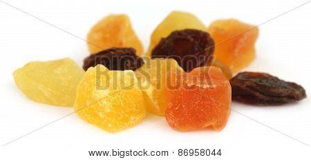 Dried Fruits Apricot, Papaya And Raisin