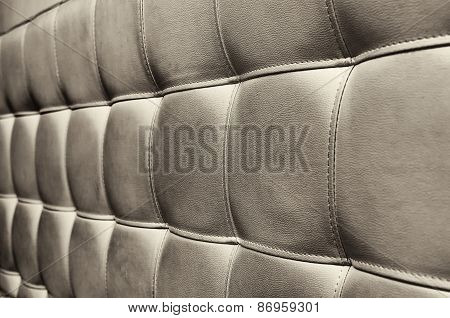 Tufted Grey Leather Headboard Texture For Background