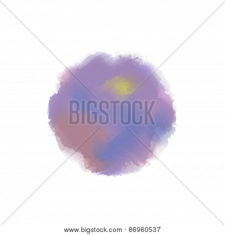 Vector watercolor stainsColorful vector isolated watercolor paint circles