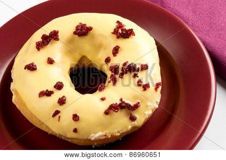 Doughnut With Cherry