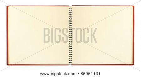 Blank Notebook With Ring Binder
