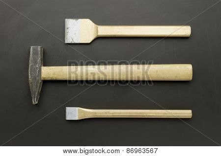 chisels and hammer