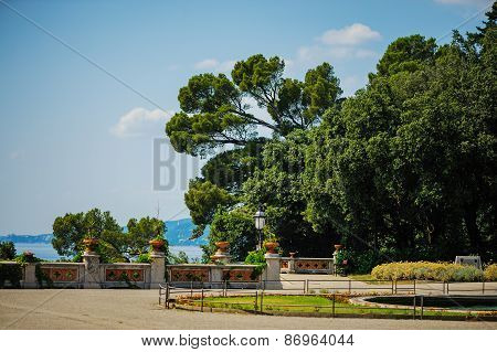 TRIESTE, ITALY - 20 JULY,2013: Miramare castle, Trieste, Italy