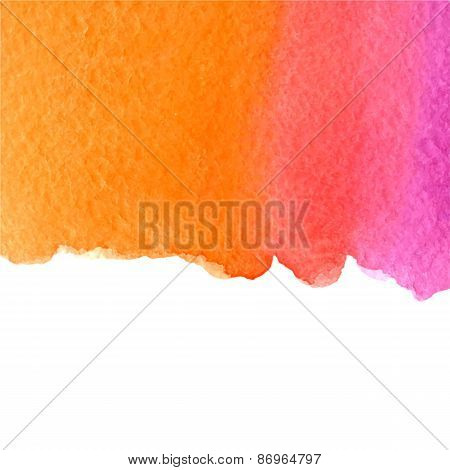 vector watercolor pink and orange gradient background with copy space