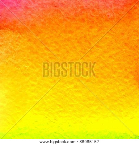 vector watercolor gradient yellow, orange and pink background