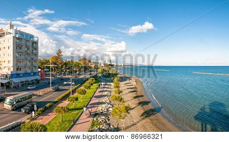 Limassol, Cyprus - May, 11 2014: Panoramic View Of Limassol City.