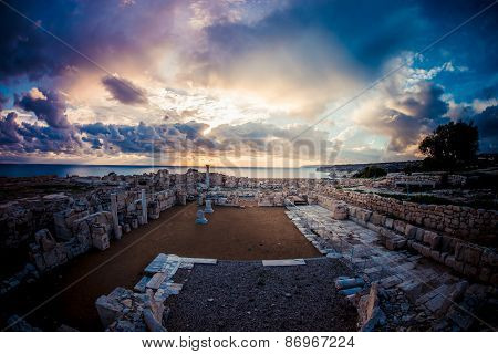 Roman Ruins At Kourion. Limassol District. Cyprus