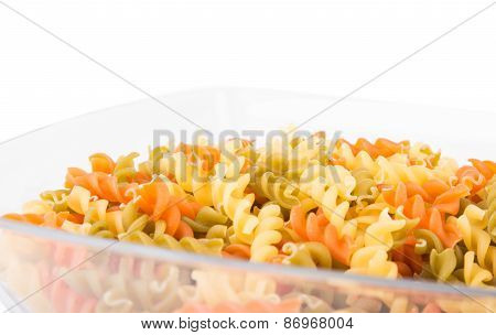 Raw Fusilli Pasta - Three Colors
