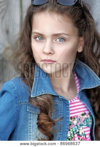 Portrait Of A Beautiful Fashion Girl