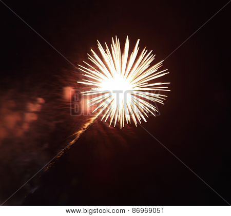 Beautiful Firework With Sky