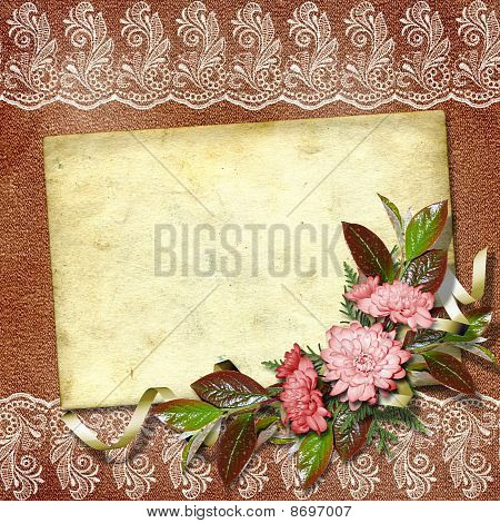 Elegant Framework For Invitation Or Congratulation On The Abstract Background.