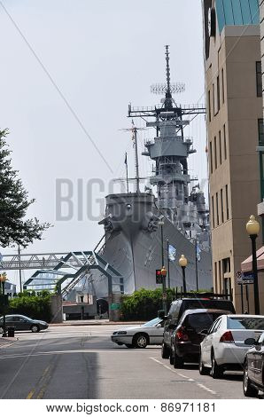 The battleship Wisconsin in Norfolk