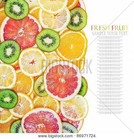 Background Fruit Slices
