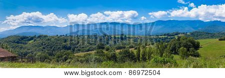 Panorama Of Nature And Pyrenees In Figarol