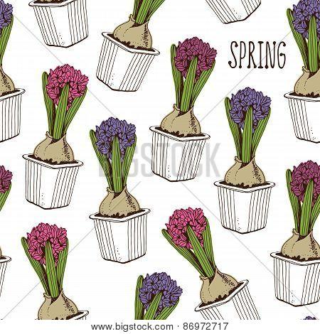 Spring hyacinth pattern