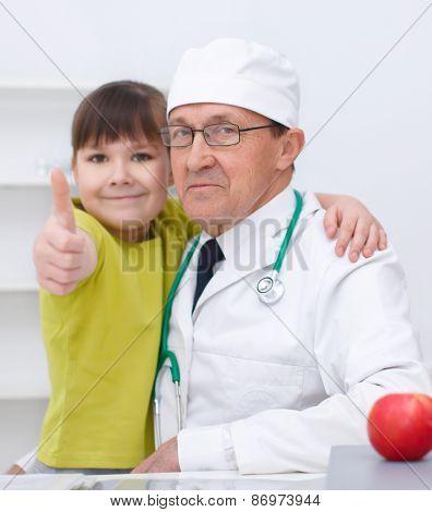 Doctor Is Examining Girl