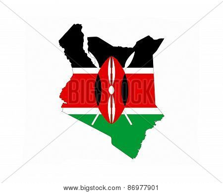 Kenya Flag Map