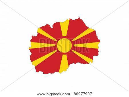 Macedonia Flag Map