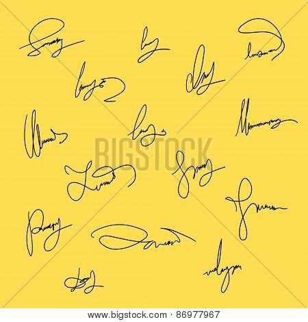 Set of Handwritten Signature