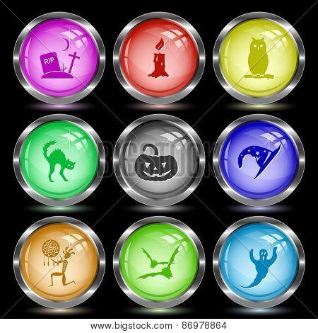 Mystic signs set. Internet button. Vector illustration.
