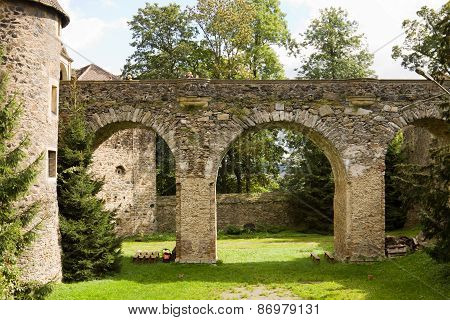 The Bridge In The Polish Czocha Castle