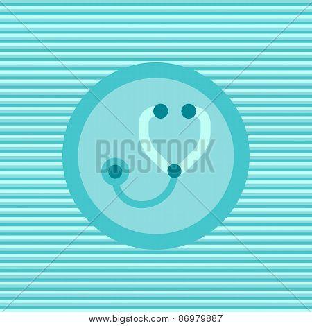 Stetoscope Color Flat Icon