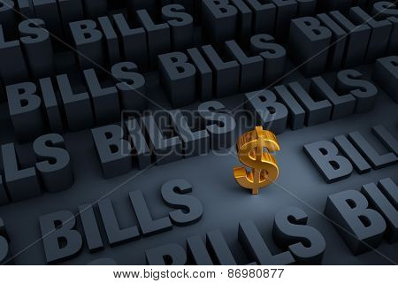 Savings Surrounded By Looming Bills