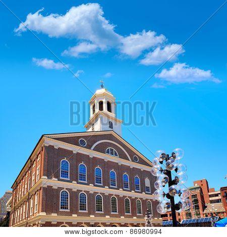Boston Faneuil Hall marketplace in Massachusetts USA