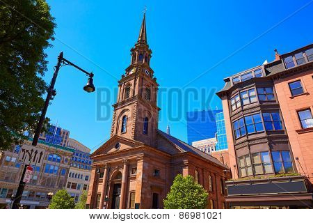 Boston Arlington Street Church in Massachusetts USA