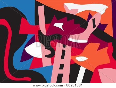 psychology - abstract art background