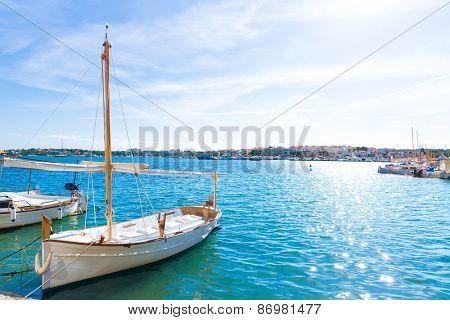 Majorca Porto Colom Felanitx port in mallorca Balearic island of Spain