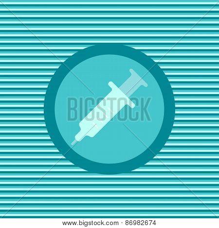 Syringe Color Flat Icon