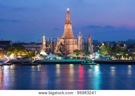 Wat Arun Buddhist religious landmark of Thailand