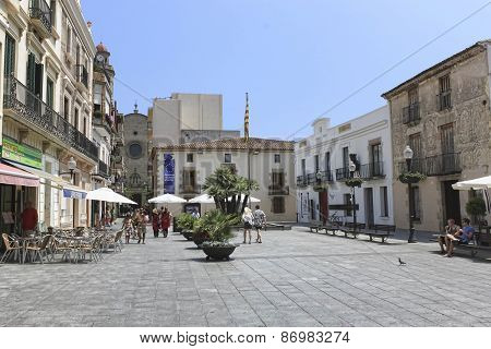 Central Square Of Calella