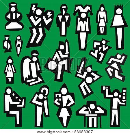 people - set symbols